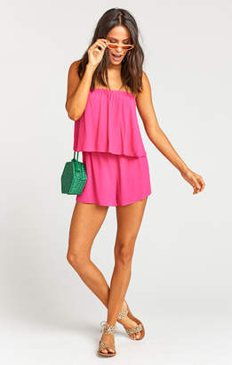 Show Me Your Mumu Thelma Romper ~ Hot Pink