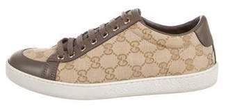 Gucci Monogram Low-Top Sneakers