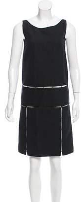 Prada Silk-Wool Knee-Length Dress