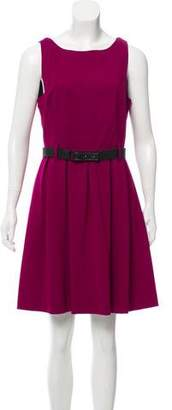 Theory Belted Pleated Dress