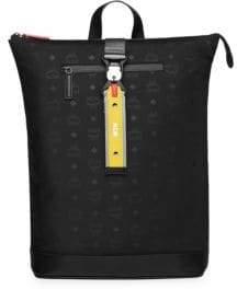 MCM Resnick Monogrammed Nylon Backpack