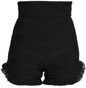 Maje Pleated Woven Shorts