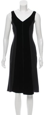 pradaPrada Silk Velvet-Accented Dress