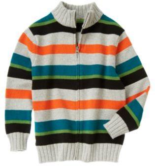 Crazy 8 Stripe Zip Cardigan
