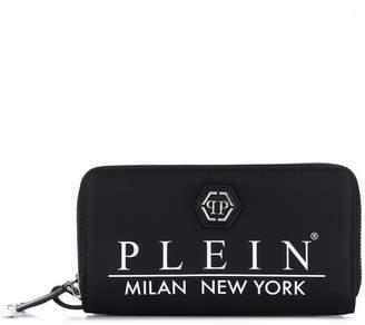 Philipp Plein logo print wallet