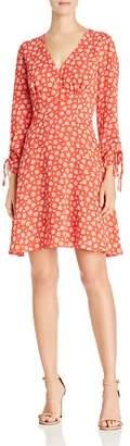 Aqua Floral Ruched Drawstring Dress - 100% Exclusive
