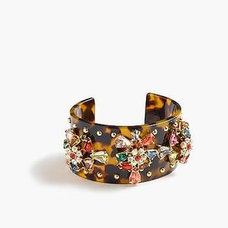 J.Crew Crystal-studded lucite cuff