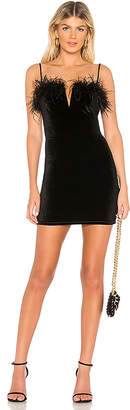 About Us Erika Feather Mini Dress