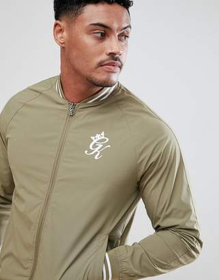Gym King Muscle Track Jacket In Khaki