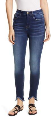 Frame Le Ali High Waist Triangle Hem Ankle Skinny Jeans