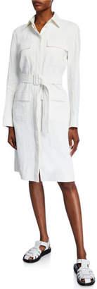 The Row Loeb Linen Belted Shirtdress