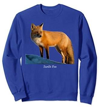 Sunlit Fox Sweatshirt Wildlife nature