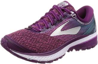 Brooks Women's Ghost 10 Running Shoe (BRK-120246 1B 3692320 5.5 BLK/PNK/COR)