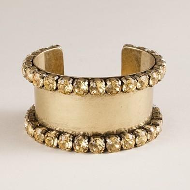 Crystal-edged cuff bracelet