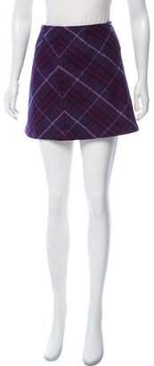 Burberry Wool Plaid Skirt