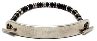 M. Cohen Brushed Bar Multi Strap Bracelet - Mens - Silver