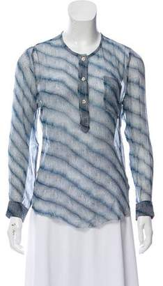 Etoile Isabel Marant Henley Silk Top w/ Tags