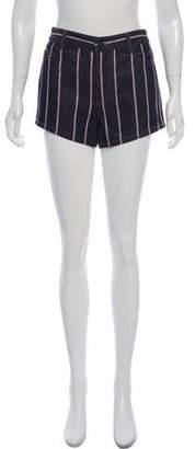 Alexander Wang Striped Denim Mid-Rise Shorts