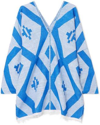 Lemlem Biruhi Cotton-blend Jacquard Kaftan - Blue
