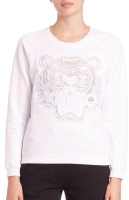 KENZO Mesh Tiger Icon Sweatshirt $365 thestylecure.com