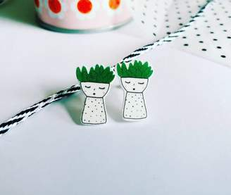 Bea Yuk Mui and the Bear Plant Earrings