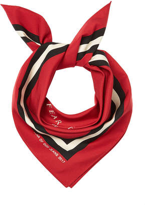 Fear Of God Printed Cotton and Silk Scarf