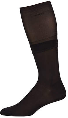 Neiman Marcus Men's Over-Calf Silk Dress Socks