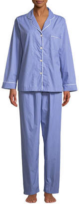 P Jamas Contrast-Piping Two-Piece Pajama Set