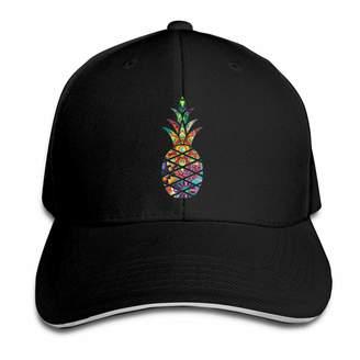 99b7d82624e Kidhome Unisex Adjustable Plain Hat Fruit Colorful Pineapple Sporting Baseball  Cap Outdoor Snapback Hat