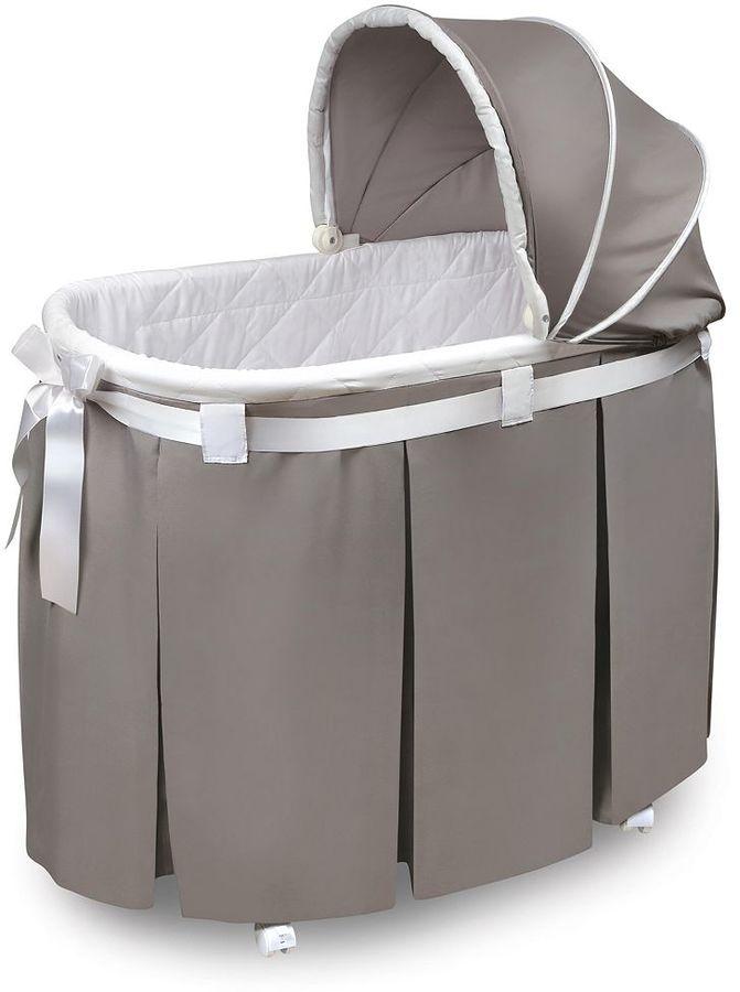 Badger BasketBadger Basket Wishes Oval Bassinet & Full Length Skirt