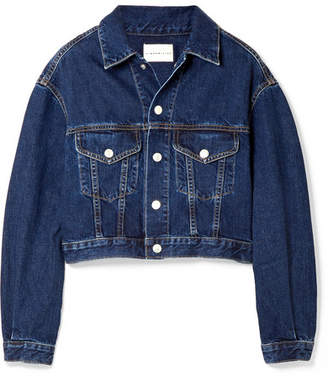 Simon Miller Toluca Cropped Denim Jacket - Dark denim