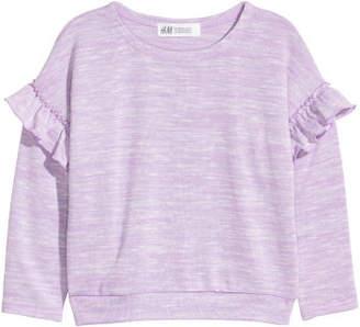 H&M Sweater with Ruffles - Purple
