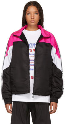Opening Ceremony Pink and Black Nylon Warm Up Jacket