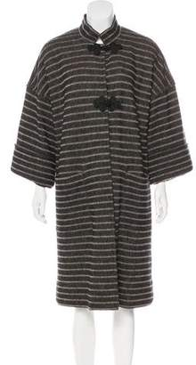 Jaeger Striped Long Coat