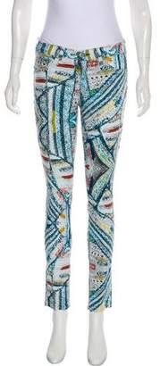 Rag & Bone Abstract Print Mid-Rise Skinny Jeans