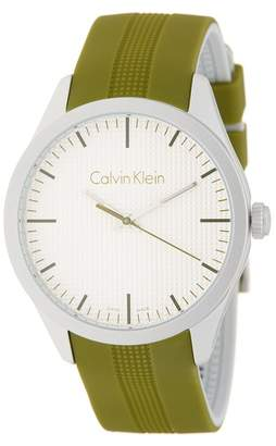 Calvin Klein Men's Color Silicone Strap Watch, 40mm