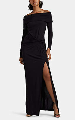 Prabal Gurung Women's Twist-Detailed Off-The-Shoulder Gown - Black