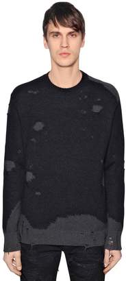 Diesel Destroyed Cotton Mohair Knit Sweater