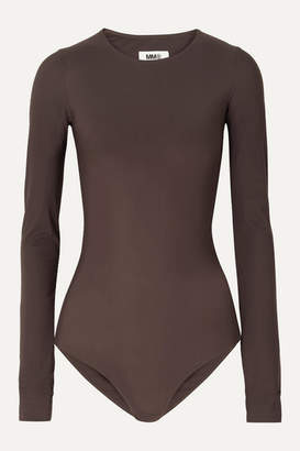 MM6 MAISON MARGIELA Stretch-jersey Bodysuit - Dark brown