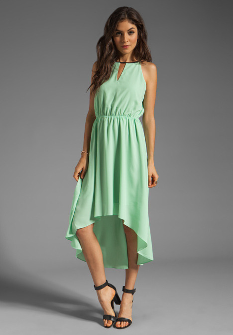 MM Couture by Miss Me Hi Low Dress With Front Keyhole