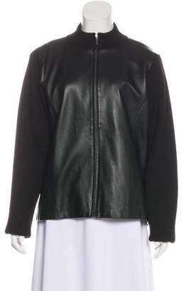 Pendleton Leather and Wool Jacket