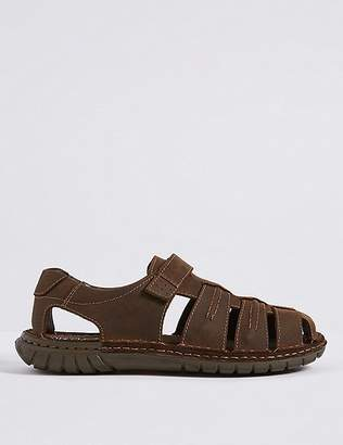 Marks and Spencer Extra Wide Fit Leather Riptape Fisherman Sandals