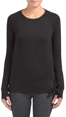 Terry Long Sleeve Side Knot Top