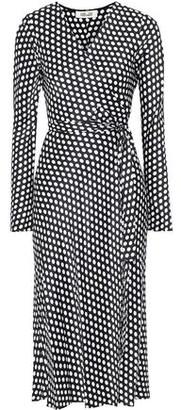 Diane von Furstenberg Tilly Polka-dot Silk-satin Midi Wrap Dress