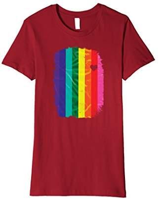 Original Gay Pride Rainbow Flag LGBT Heart Premium T Shirt