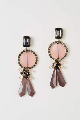 H&M Long Earrings - Gold-colored/light pink - Women