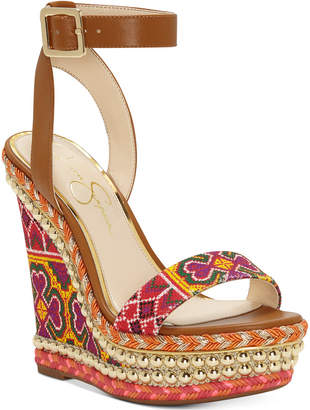 Jessica Simpson Alinda Woven Platform Wedge Sandals Women's Shoes