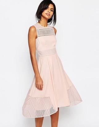Whistles Maisie Graphic Lace Midi Dress $356 thestylecure.com