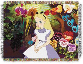 "Disney Alice in Wonderland ""Alice in the Garden"" Throw"