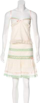 Laundry by Shelli Segal Sleeveless Lace-Accented Skirt Set